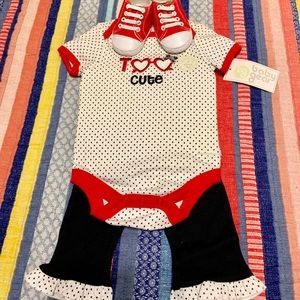 NWT Baby Gear three piece set too/pants/shoes